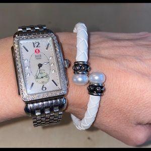 Honorapearl leather bracelet